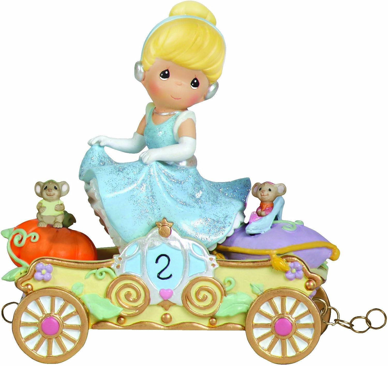 Precious Moments, Disney Showcase Collection,Bibbidi, Bobbidi, Boo – Now You're Two!, Disney Birthday Parade, Age 2, Resin Figurine, 104404
