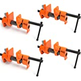 """Y&Y Decor 4 PACK 1/2"""" Wood Gluing Pipe Clamp Set Heavy Duty PRO Woodworking Cast Iron"""