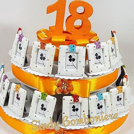 Torta Bomboniere Portafoto 18 Anni Compleanno Misti Pois Ragazzo