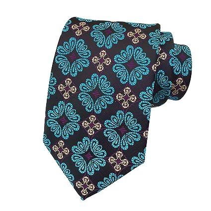 ZHOUXING Corbata para Hombre Paisley Corbatas Paisley Flor Corbata ...