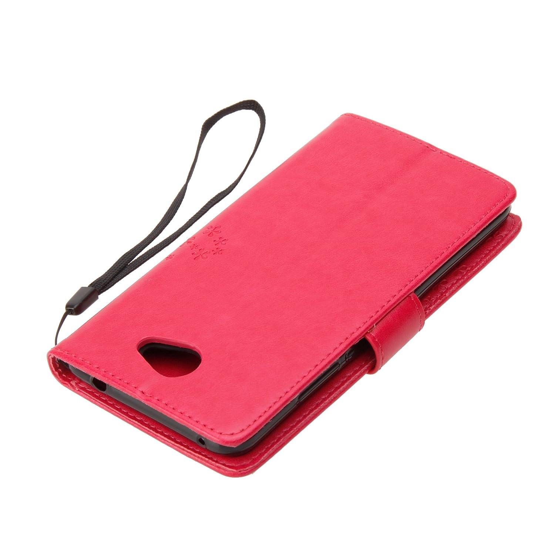 Protection Compl/ète pour Votre T/él/éphone Portable. Housse en Cuir PU pour Huawei Y7 2017 Coque avec /Étui en Silicone Frlife Coque pour Huawei Y7 2017