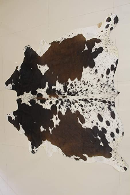Splendid Decor Tricolor Brazilian Cowhide Rug Tri Cow Hide Skin Leather Area Rug Exotic Small 4ft X 3ft