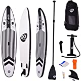 Goplus 12.5' SUP Inflatable Cruiser Stand Up Paddle Board iSUP w/ 3 Fins Adjustable Paddle Pump Kit Backpack