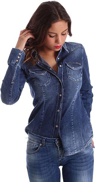 Gas Jeans Marah New Camisa, Azul (Wy79 Wy79), 32 (Talla del Fabricante: XX-Small) para Mujer: Amazon.es: Ropa y accesorios