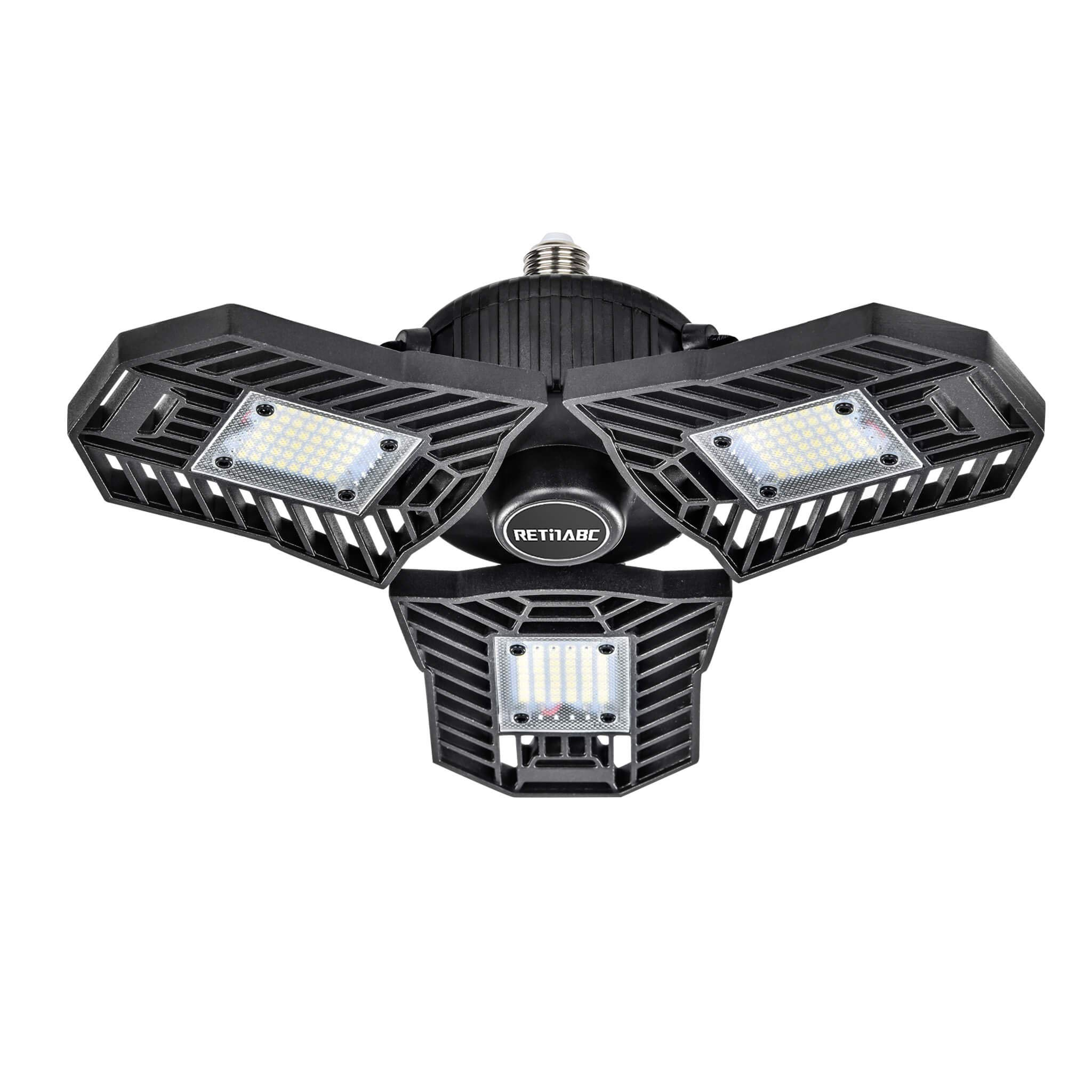 Deals on Retinabc 60W LED Garage Lights Deformable