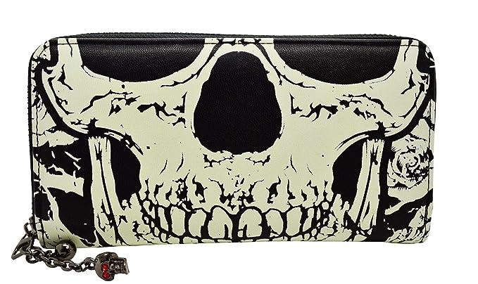 Details zu 3D Totenkopf Skull Geldbörse Designer Portemonnaie Portmonee Geldbeutel Metall