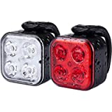Teshudi Bike Light Set, Rechargeable Bike Lights Front and Back, Super Bright Bicycle Lights, Instant Install, Fits All…