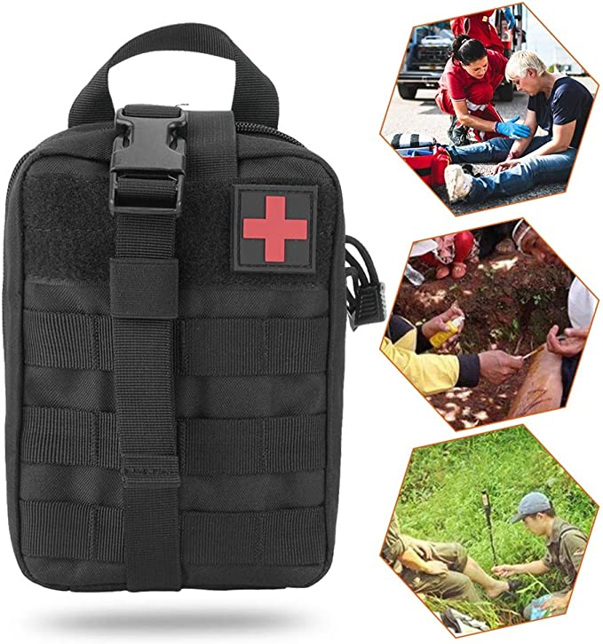 Bolsa De Supervivencia De Emergencia Para Acampar Al Aire Libre Bolsa De Almacenamiento De Primeros Auxilios Bolsa De Almacenamiento De Organizador De Medicina A Prueba Agua Vac/ía 9.45x3.54x5.12in