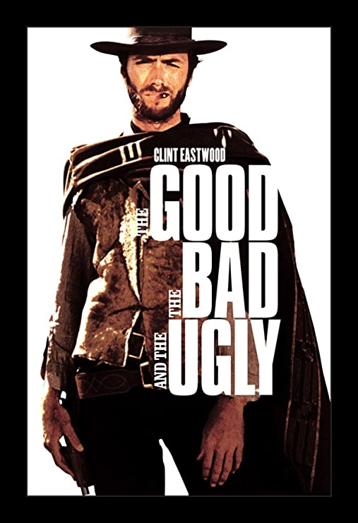 Canvas The Good The Bad /& The Ugly Giant Poster Art Print Black /& White Card