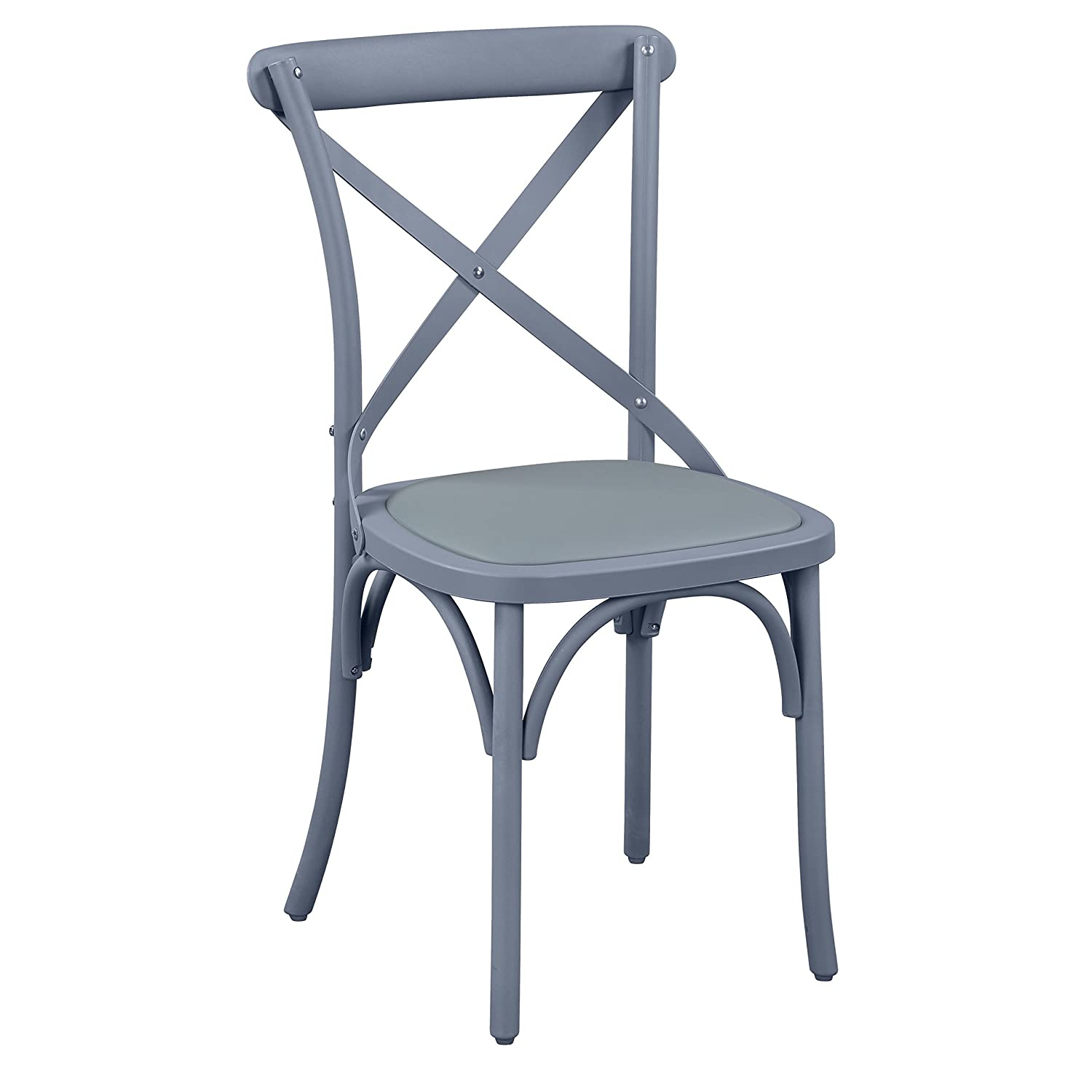 Amazon.com - Corvus Cross Back Upholstered Dining Chair (Set of 2) Grey Chairs 2