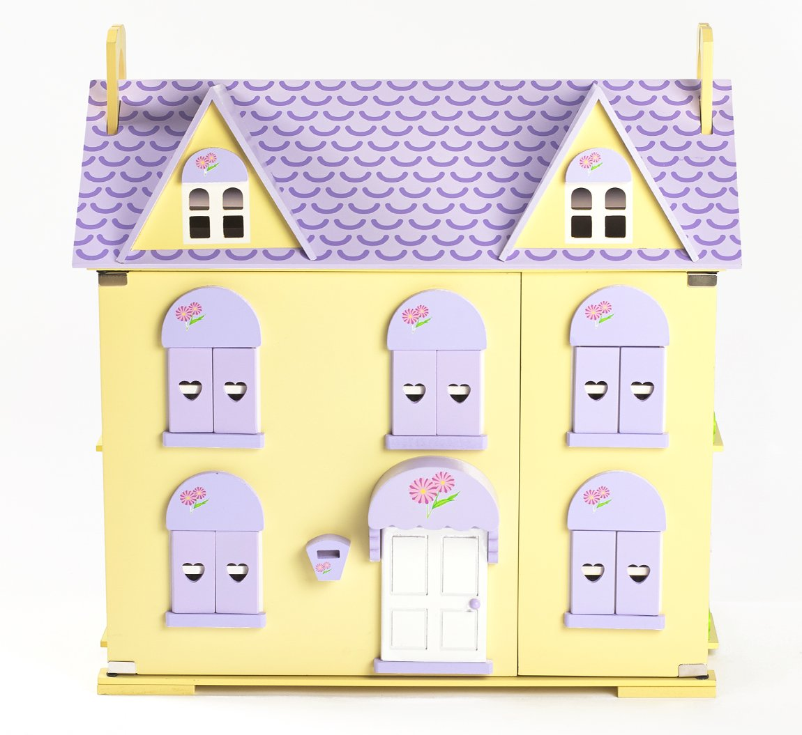 Big Game Hunters Berrybee Cottage Children/'s Wooden Dolls House with Stairs and Curtains