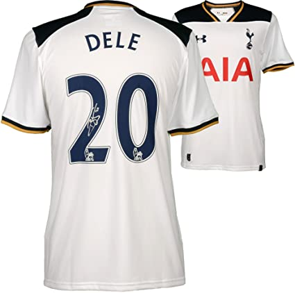 uk availability a22ee 19401 Dele Alli Tottenham Hotspur Autographed 2016-17 Home Jersey ...