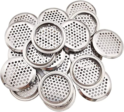 20xStainless Steel Air Vent Louver Mesh Cabinet Cupboard Hole 29mm