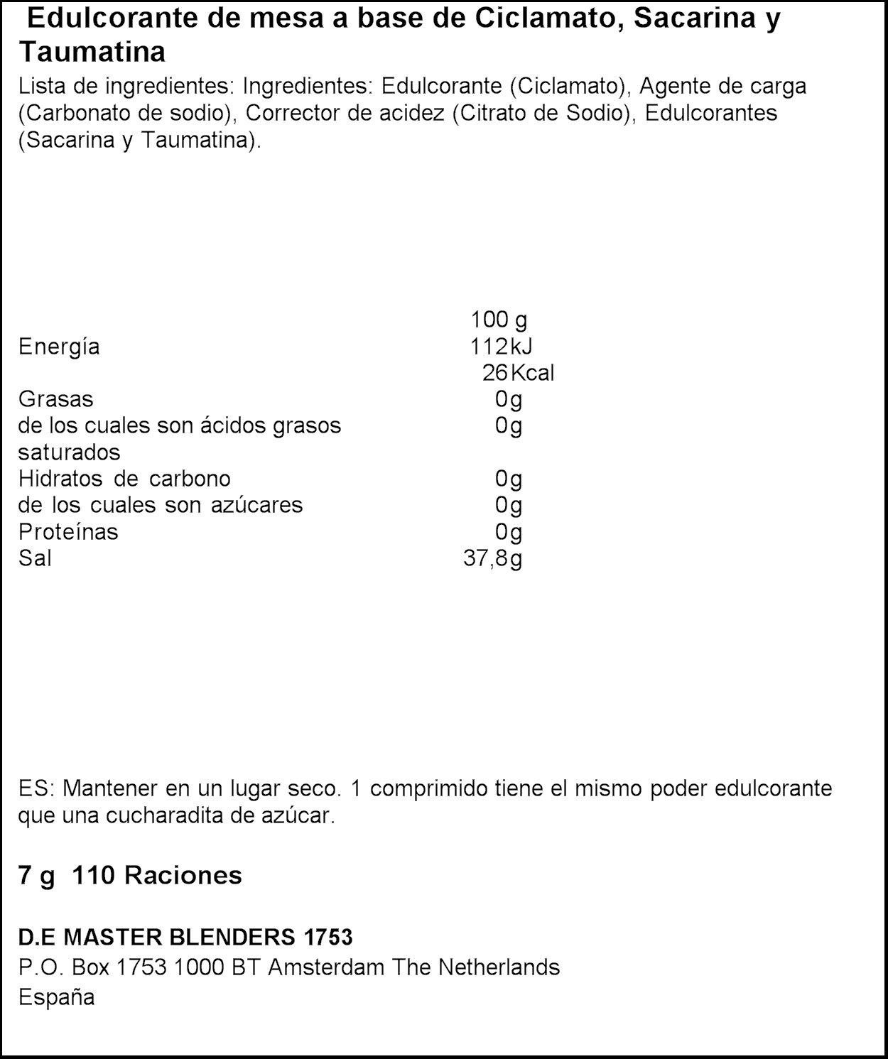 Natreen Edulcorante Comprimidos Dispensador - 110 unidades: Amazon.es: Amazon Pantry