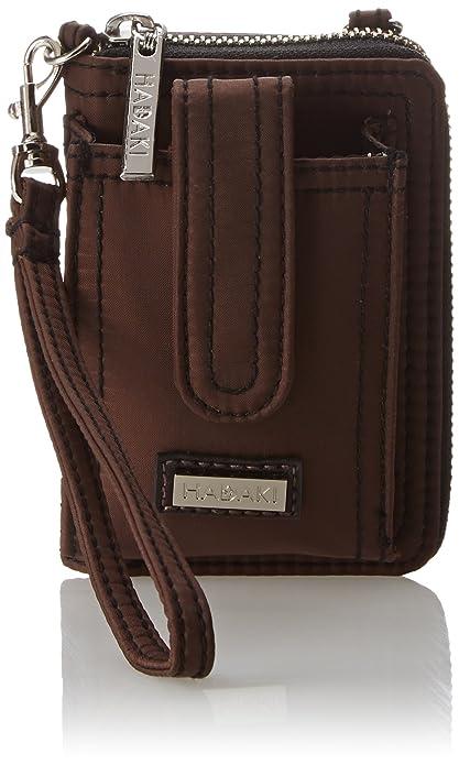 HADAKI Nylon Essentials Wristlet - Cartera para mujer, color chocolate/black, talla única: Amazon.es: Zapatos y complementos