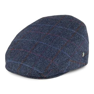 8e1949b9 City Sports Herringbone Flat Cap - Blue 2XLARGE: Amazon.co.uk: Clothing