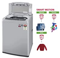LG 6.5 Kg 5 Star Smart Inverter Fully-Automatic Top Loading Washing Machine (T65SKSF4Z, Middle Free Silver)