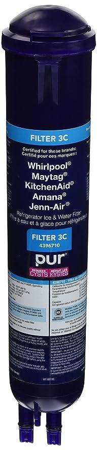 Whirlpool 4396710 Filtro de agua de repuesto para refrigerador ...