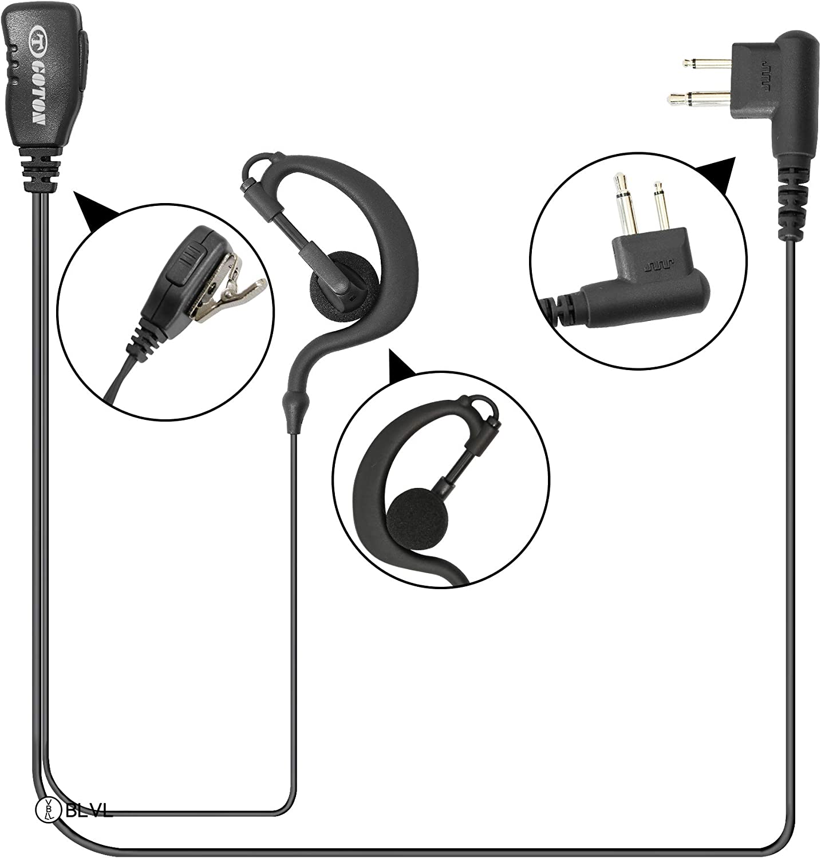 Over Head Headset//Earpiece Boom Mic For Motorola RDU-2080D RDU-4100 RDU-4160D US