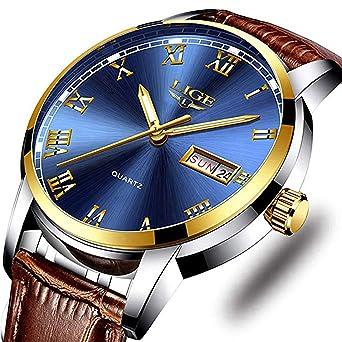 Amazon.com: Reloj de pulsera para hombre, de acero ...