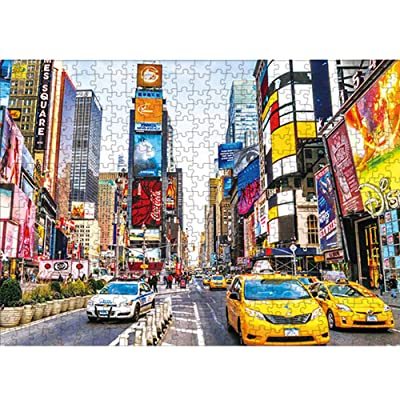 Jigsaw Puzzle 1000 Pieces Puzzle for Kids Adult - Time Square Jigsaw Puzzle Toy: Toys & Games