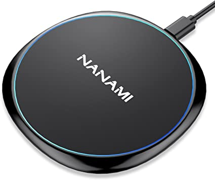 Fast Wireless Charger,NANAMI 7.5W Wireless Charging Pad Compatible iPhone 11/11 Pro/11 Pro Max/XR/XS Max/XS/X/8/8 Plus,10W Charger for Samsung S10+ S9 ...