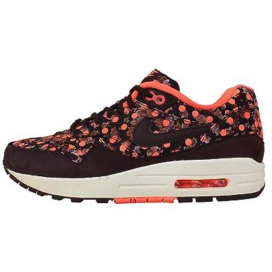 e60887eb9e Nike Air Max 1 LIB QS Womens Running Shoes 540855-600 Deep Burgundy Bright  Mango