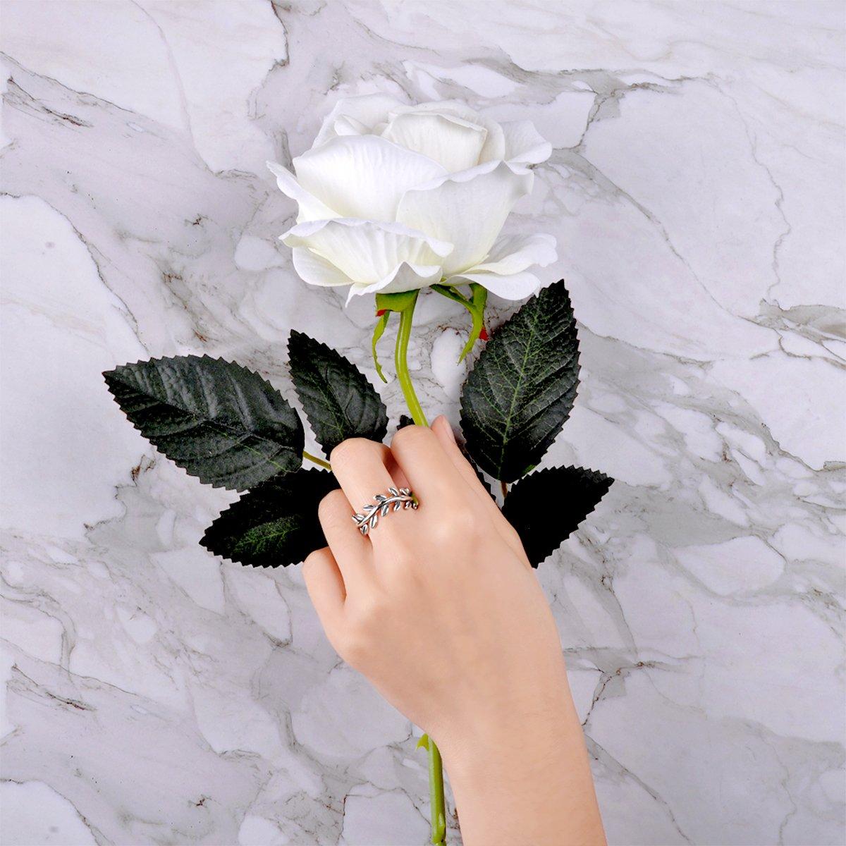 Twenty Plus Simple Sterling Silver Laurel Wreath Finger Ring Gifts For Women & Girls by Twenty Plus (Image #4)