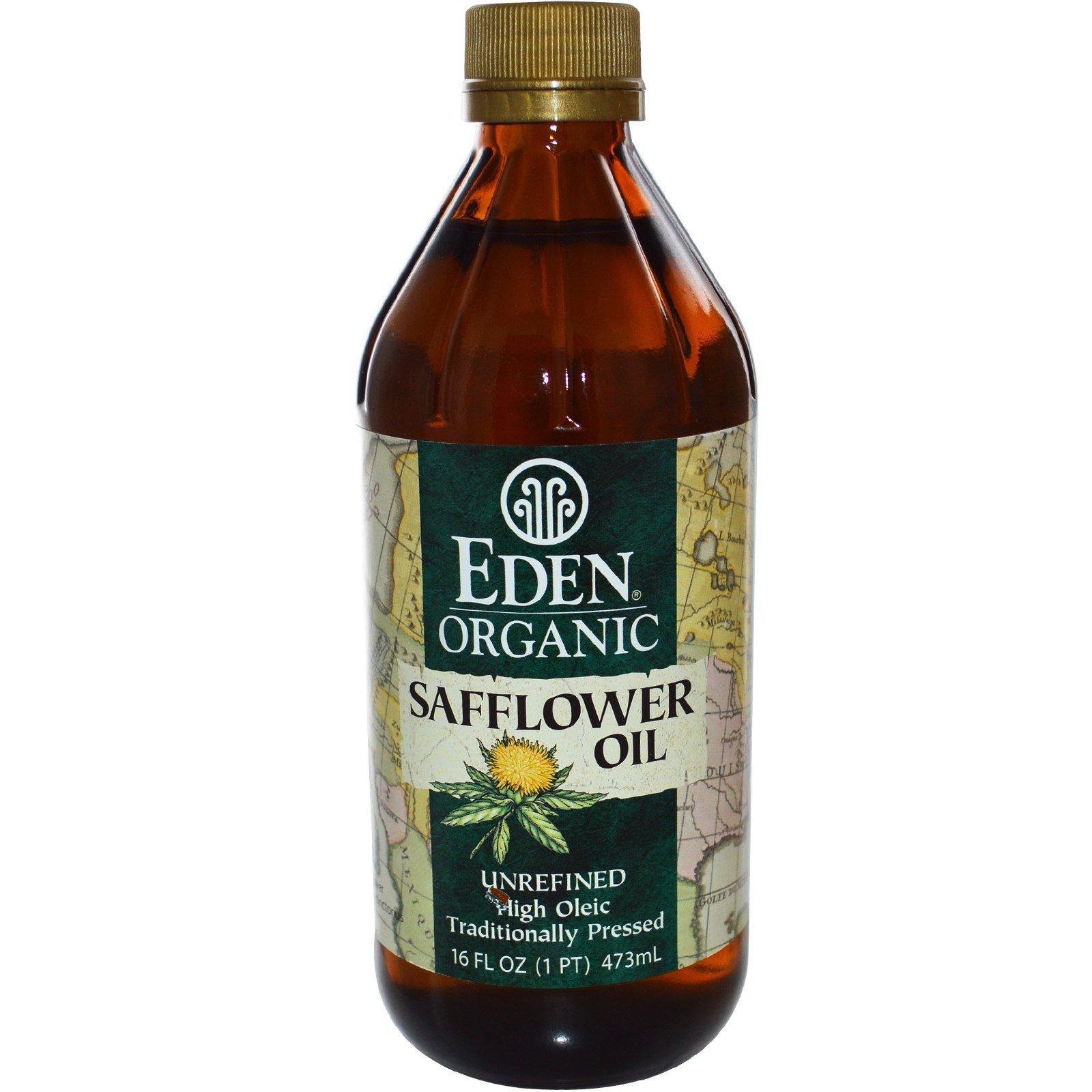 Eden Foods, Organic Safflower Oil, Unrefined, 16 fl oz (473 ml) - 3PC