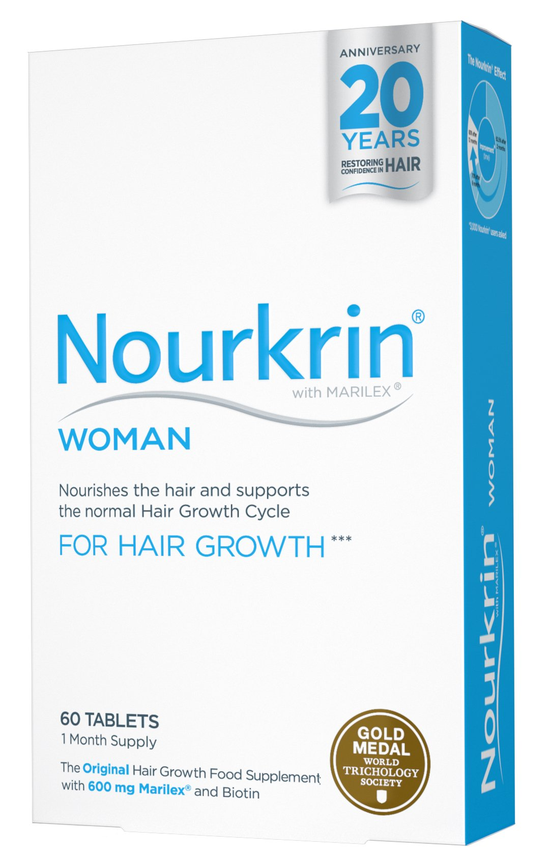 Nourkrin Extra Strength Hair Recovery Programme 60 Tablets 1 Month Supply