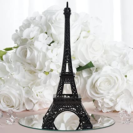 Amazon.com: BalsaCircle 10-Inch Black Metal Eiffel Tower Centerpiece ...
