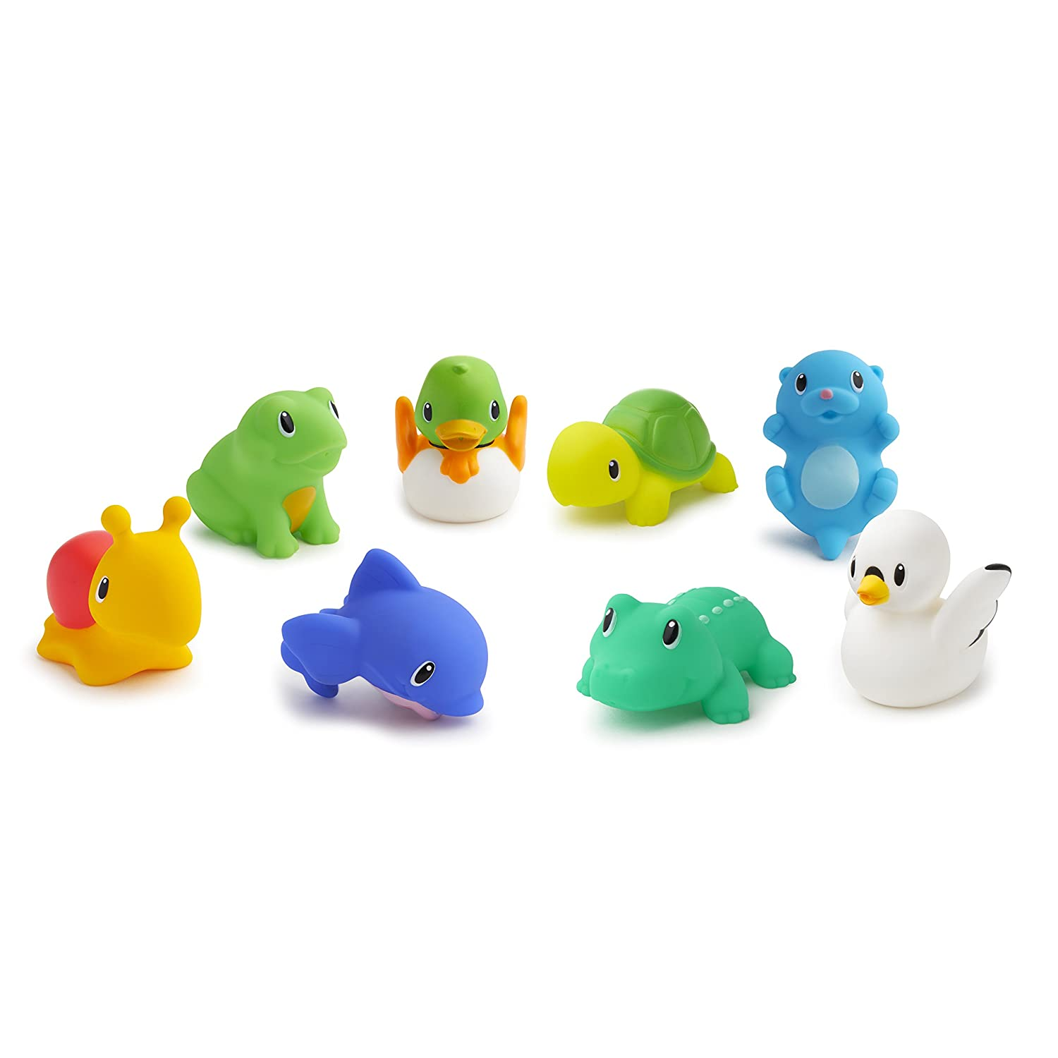 Amazon.com : Munchkin Lake Squirts Bath Toy, 8 Pack : Bath Toys For ...