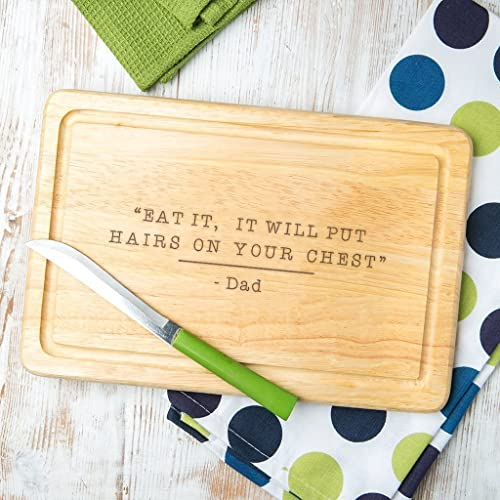 Personalized Wooden Dad Cutting Board Gifts For From Kids Funny Daughter And Son Birthday Unique