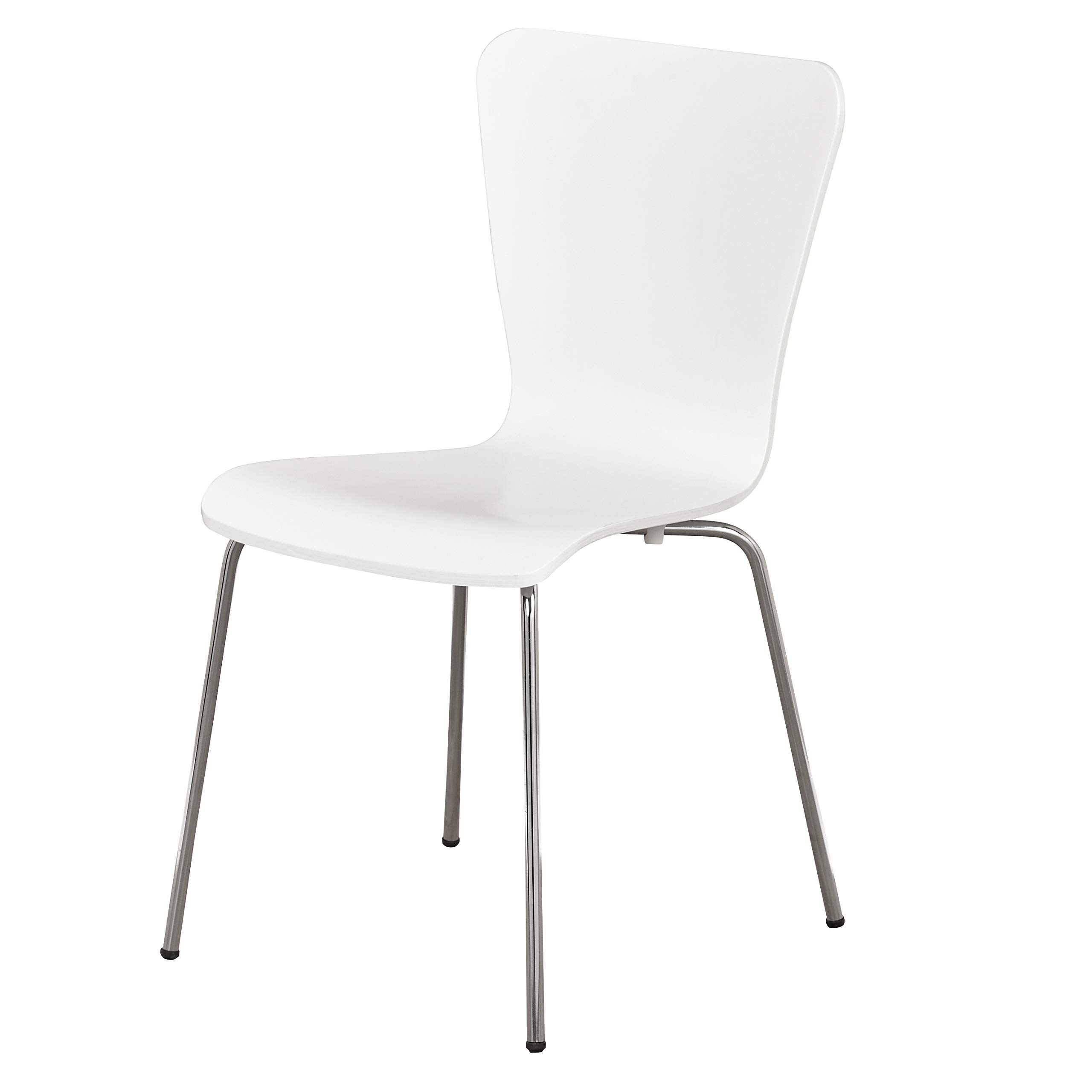 The Mezzanine Shoppe 78818WHT Jacey Modern Bentwood Dining, 1 Chair, White by The Mezzanine Shoppe