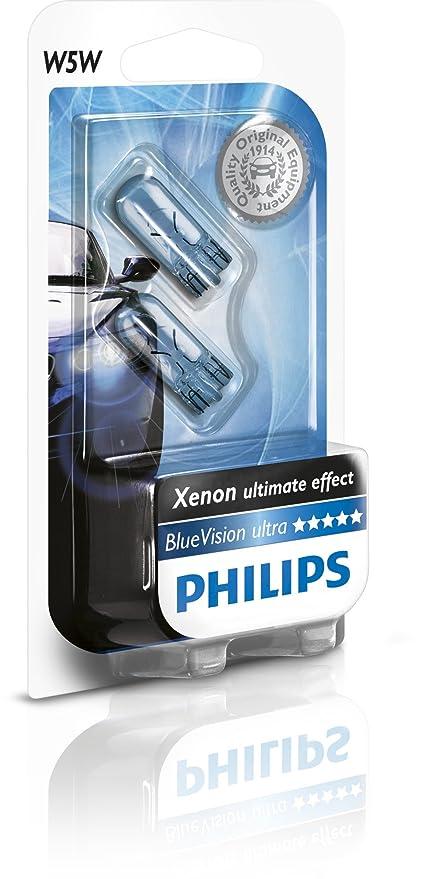 Philips 12961BVB2 Vision Bombilla, color azul, 2 piezas, BlueVison, Set de 2