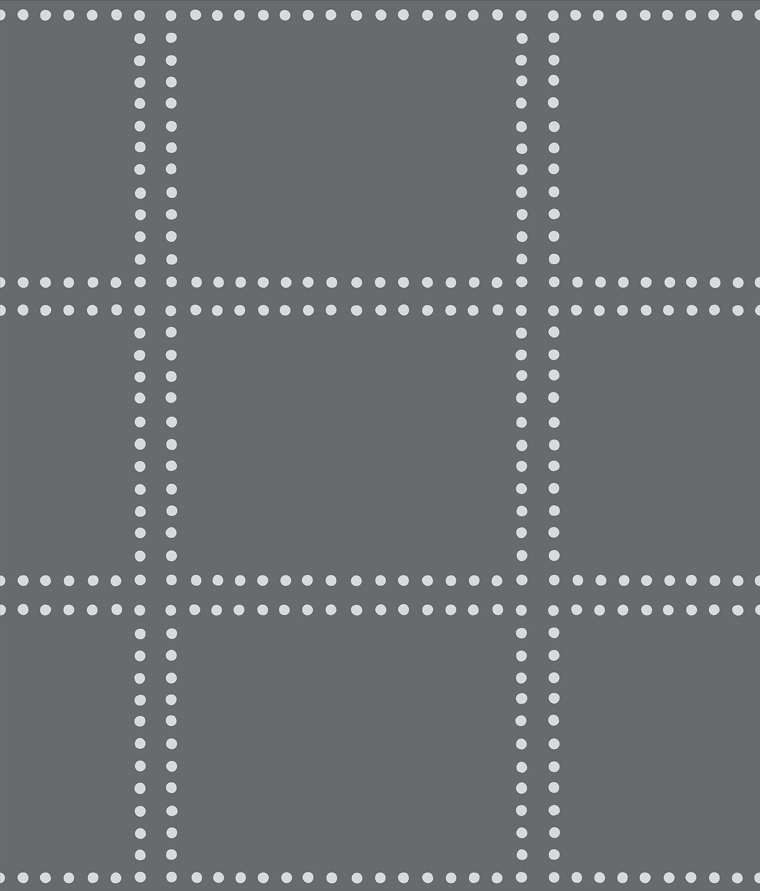A-Street Prints 2697-22639 Gridlock Charcoal Geometric Wallpaper,
