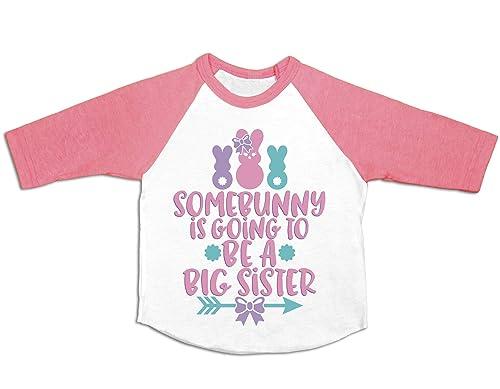 Big Sister Little Sister Shirt Personalized Easter Shirt Girl Set of 2 Shirts Bunny