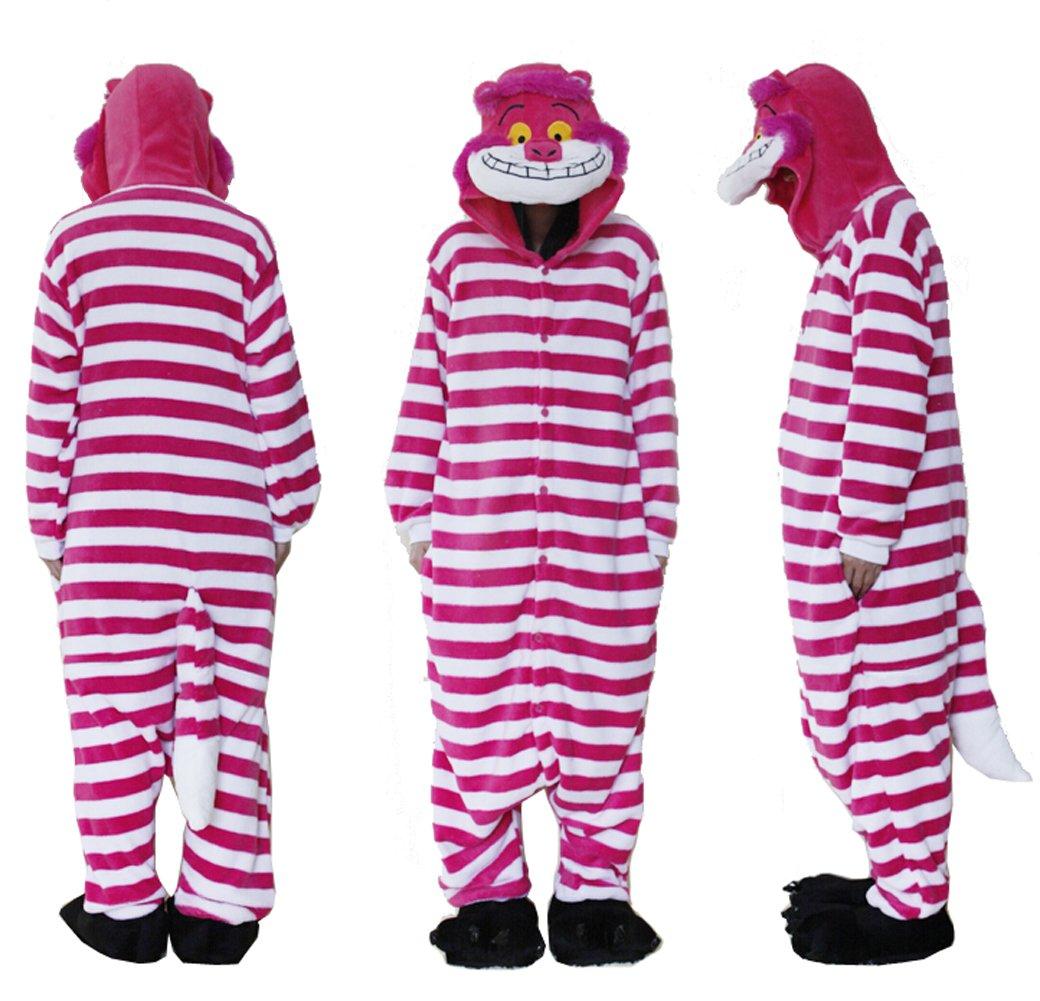 fe7a090f57df Outdoor Top Polar Fleece Flannel Onesie Pajamas Cheshire Cat Unisex Onesie  Cosplay Costume Hoodies Pyjamas Sleep Wear One Piece Animal Pajamas