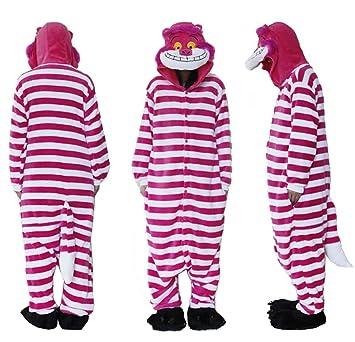 Forro Polar superior al aire libre franela pijama pijamas gato de Cheshire Onesie traje de Cosplay