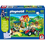 Schmidt world map jigsaw 200 pieces amazon toys games schmidt playmobil colourful farmyard jigsaw 60 pieces play figure gumiabroncs Image collections