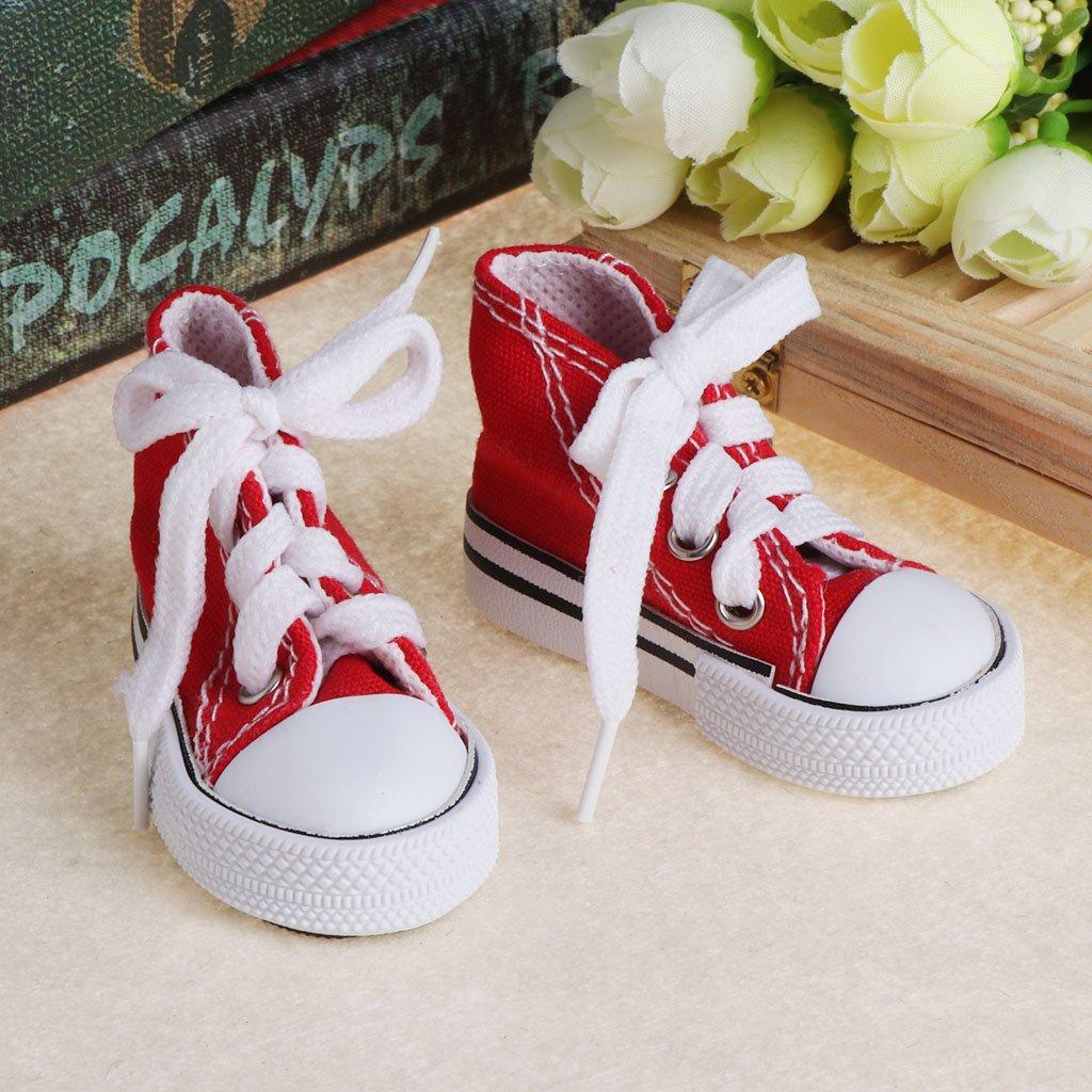 1 Puppe Schuhe 1//4 Zubeh/ör Segeltuch Mode Spielzeug Sommer Mini Sneaker Stiefel Jeans