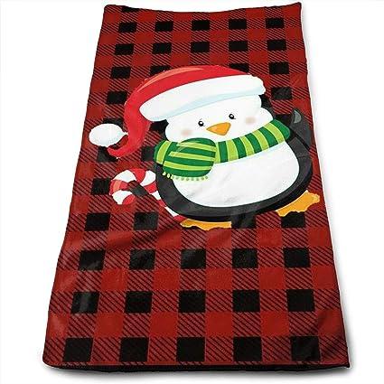 Amazon.com   OLOSARO Merry Christmas Penguin Sports Towel Travel ... a3f2ed67a8