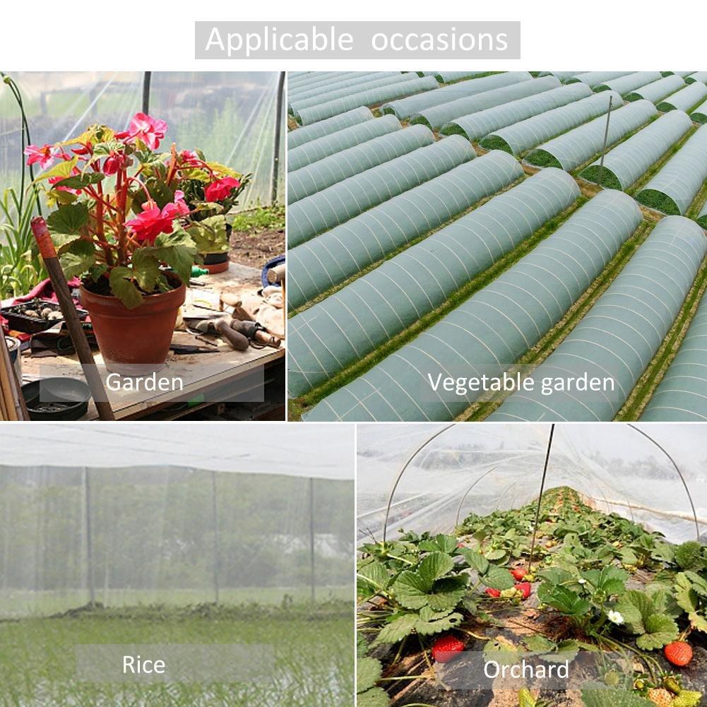 fleurs 10 * 2.4m anti-insectes verger anti-oiseaux Per Garden Filet de protection pour l/égumes