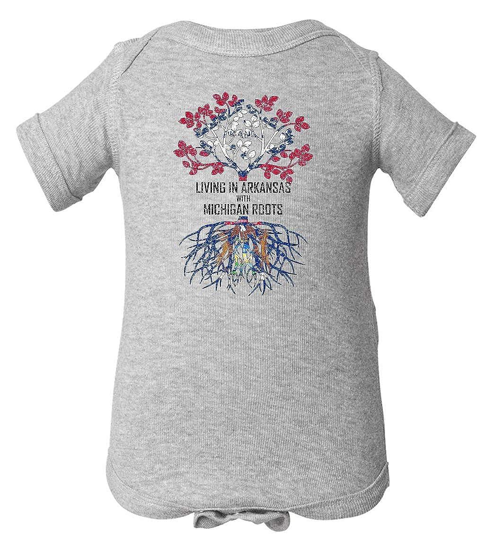 Tenacitee Babys Living in Arkansas Michigan Roots Shirt