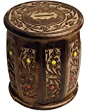 Generic ITOS365 Handicrafted Wooden Money Bank - 5.5 Inches