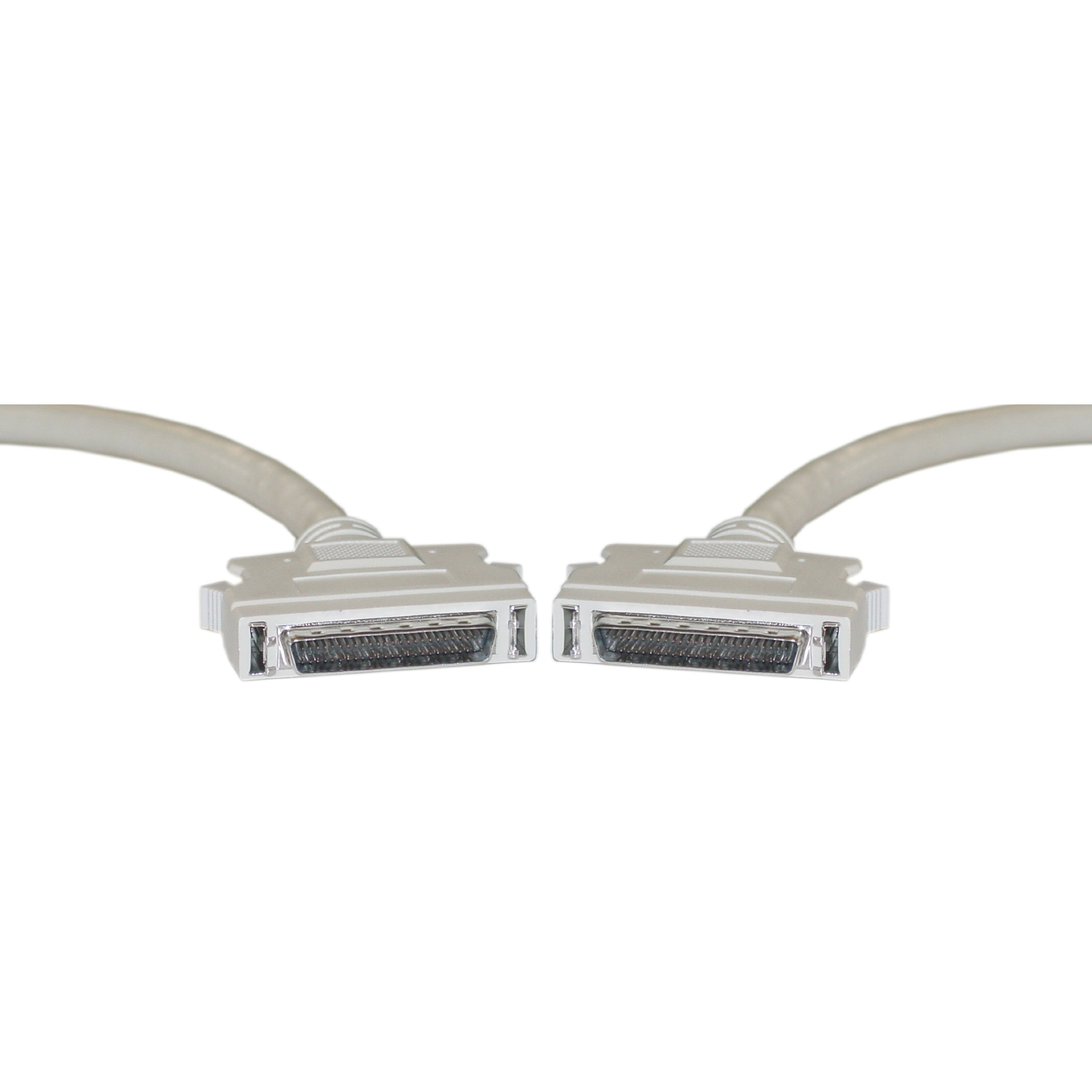 SCSI II Cable, HPDB50 (Half Pitch DB50) Male, 25 Twisted Pairs, 3 Foot by CableWholesale