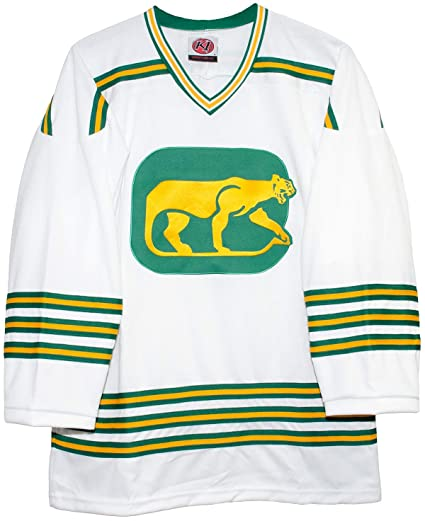 37ad6496dce K-1 Sportswear Chicago Cougars Home White Vintage WHA Hockey Jersey (Small)