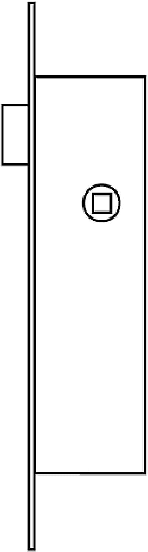 Cerradura aface 2215// 25-0 acero inoxidable Tesa Assa Abloy M51852