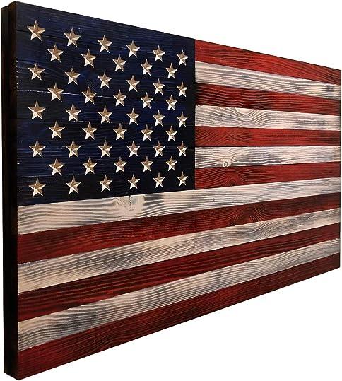 Wooden American Flag Wall Decor
