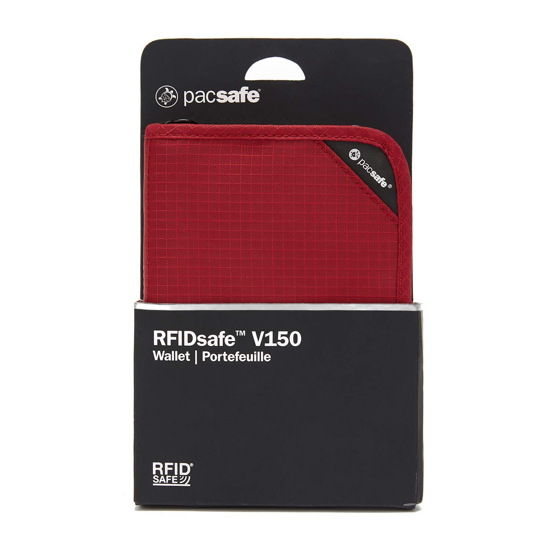PacSafe RFIDsafe V150 Anti-Theft RFID Blocking Compact Organiser, Goji Berry